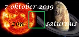 Zon vierkant Saturnus - 7 oktober 2019