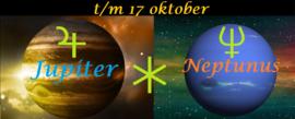 Jupiter sextiel Neptunus - t.m. 17 oktober