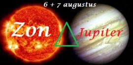 Zon driehoek Jupiter 6 + 7 augustus