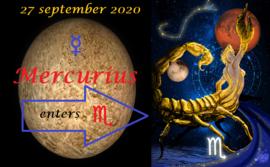 Mercurius in Schorpioen - 27 september 2020