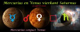 Mercurius en Venus vierkant Saturnus - 25 april 2021