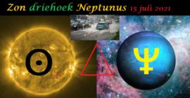 Zon driehoek Neptunus - 15 juli 2021