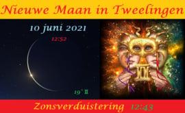 Nieuwe Maan in Tweelingen - 10 juni 2021- Zonsverduistering