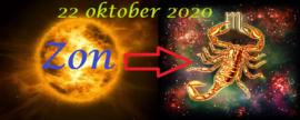 Zon in Schorpioen - 22 oktober 2020