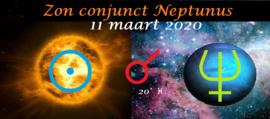 Zon conjunct Neptunus - 11 maart 2021