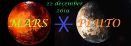 Mars sextiel Pluto - 22 december 2019