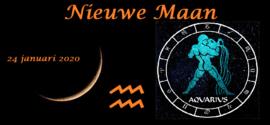 Nieuwe Maan in Waterman - 24 januari 2020
