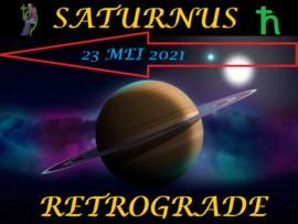 Saturnus retrograde - 23 mei 2021