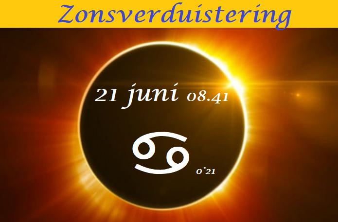 Zonsverduistering 21 juni 2020 - 08.41