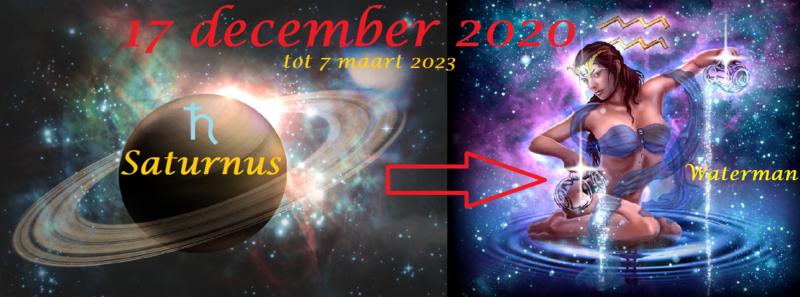 Saturnus in Waterman - 17 december 2020