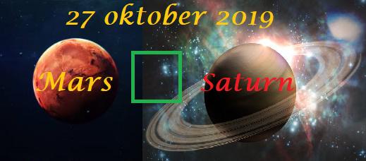 Mars square Saturnus - 27 oktober 2019