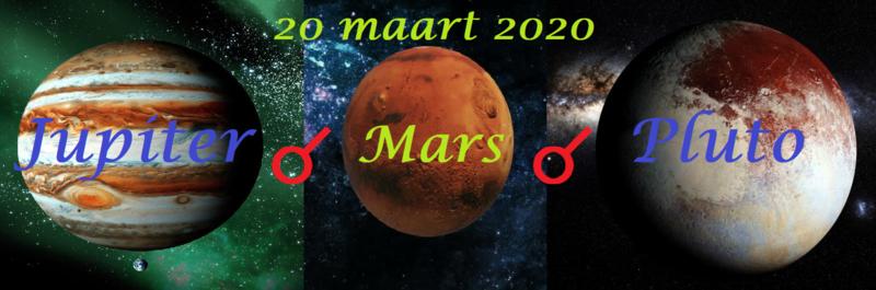 Gebundelde kracht - Mars, Jupiter en Pluto
