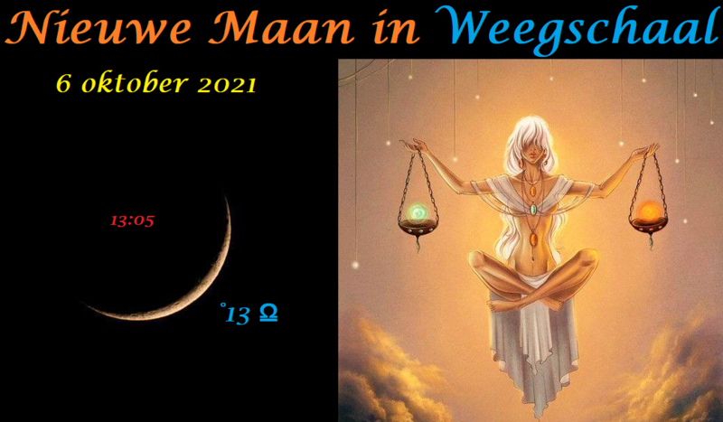 Nieuwe Maan in Weegschaal - 6 oktober 2021