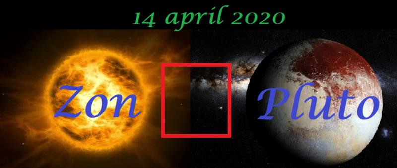 Zon vierkant Pluto - 14 april 2020