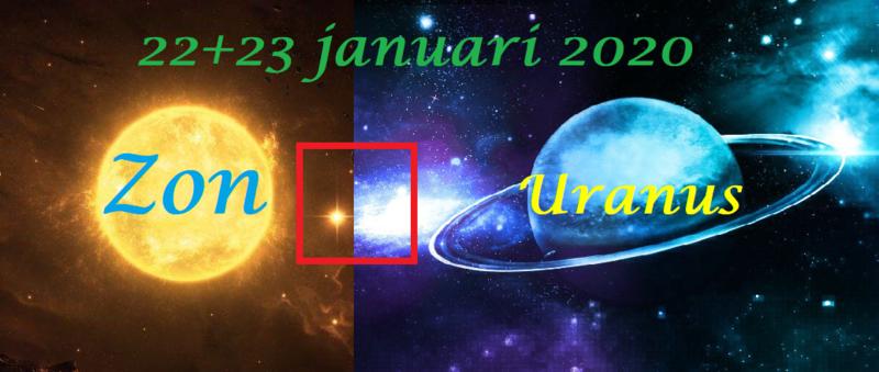 Zon vierkant Uranus - 22+23 januari 2020