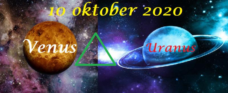 Venus driehoek Uranus - 10 oktober 2020