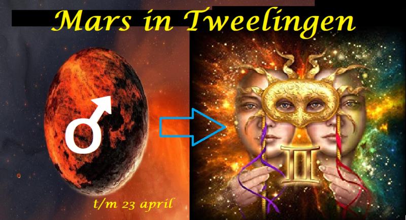 Mars in Tweelingen t/m 23 april