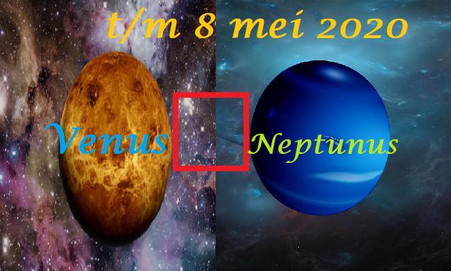 Venus vierkant Neptunus - t/m 8 mei