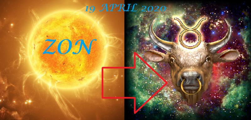 Zon in Stier - 19 april 2020