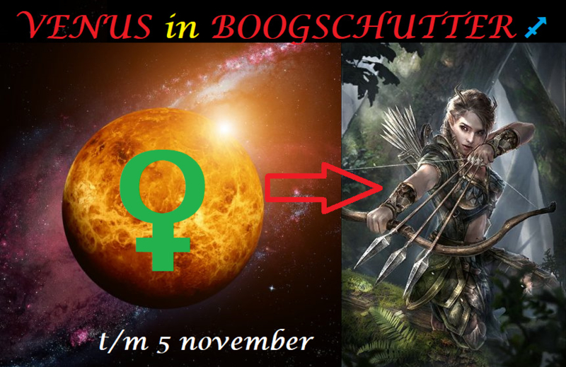 Venus in Boogschutter - 7 oktober 2021