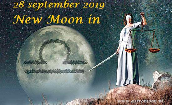 Nieuwe Maan in Weegschaal - 28 september 2019