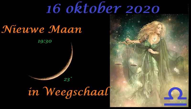 Nieuwe Maan in Weegschaal - 16 oktober 2020