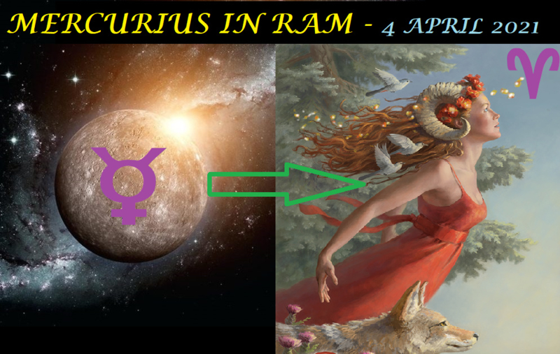 Mercurius in Ram - 4 april 2021