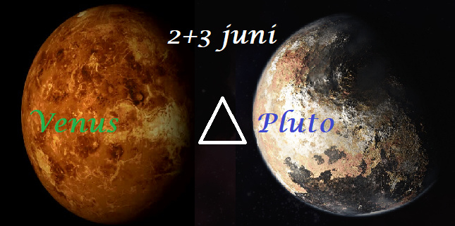 Venus driehoek Pluto - 2+3 juni