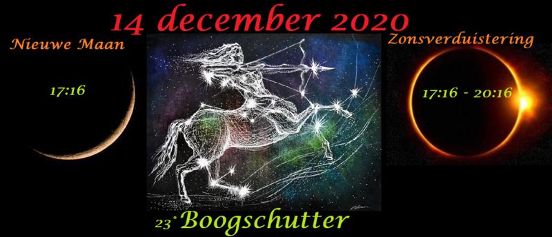 Nieuwe Maan en Zonsverduistering in Boogschutter -14 december 2020