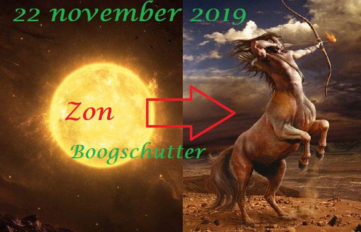 Zon in Boogschutter - 22 november 2019