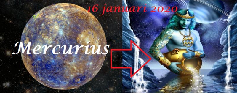 Mercurius in Waterman - 16 januari 2020