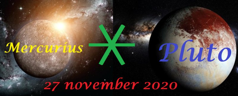 Mercururius sextiel Pluto - 27 november 2020