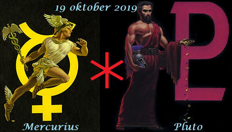 Mercurius sextiel Pluto - 19 oktober 2019