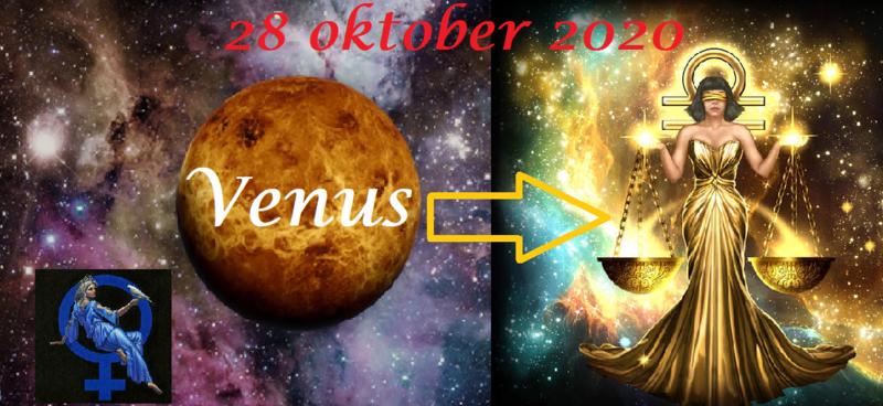 Venus in Weegschaal - 28 oktober 2020