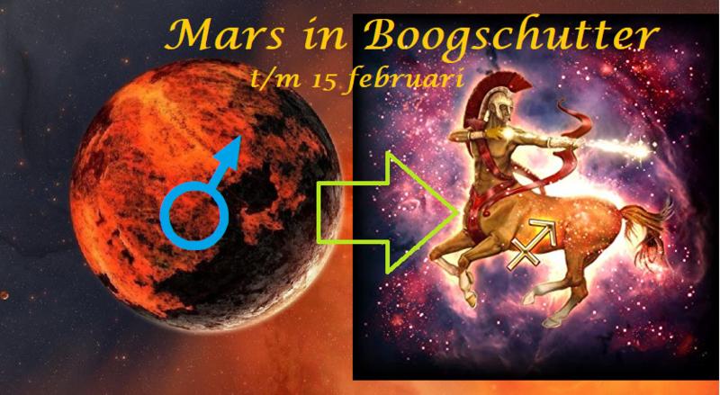 Mars in Boogschutter - t/m 15 februari