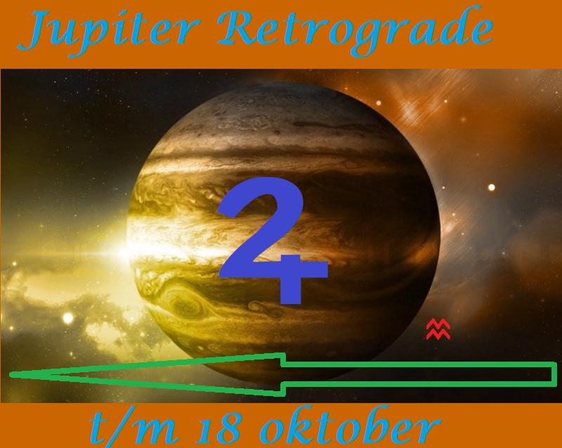 Jupiter retrograde t/m 18 oktober