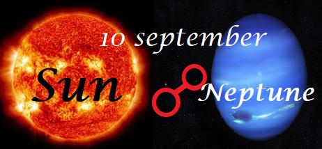 Zon oppositie Neptunus - 10 september