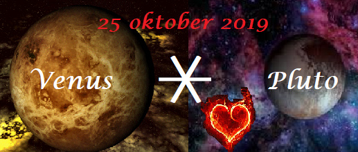 Venus sextiel Pluto - 25 oktober 2019