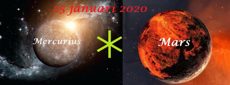 Mercurius sextiel Mars - 25 januari 2020