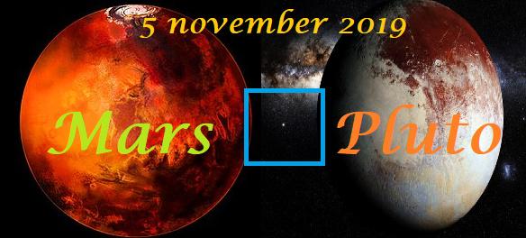 Mars vierkant Pluto - 5 november 2019