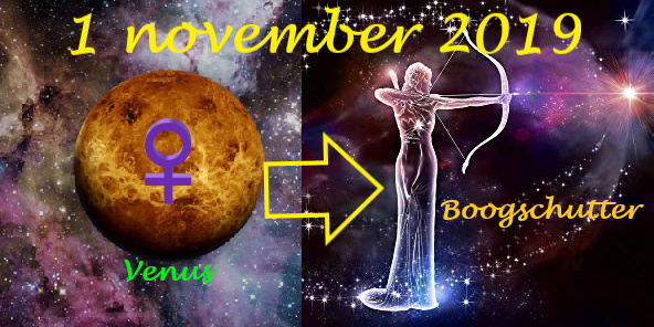 Venus enters Sagittarius - 1 november 2019