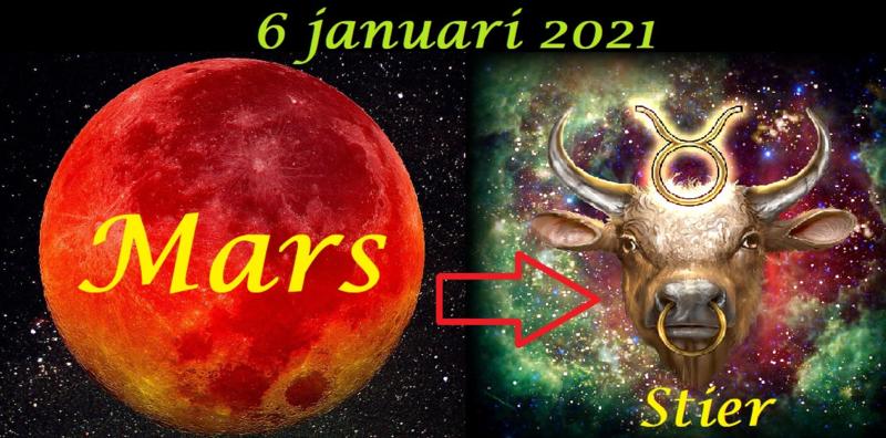 Mars in Stier - 6 januari 2021