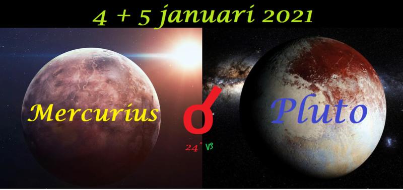 Mercurius conjunct Pluto - 4 januari 2021