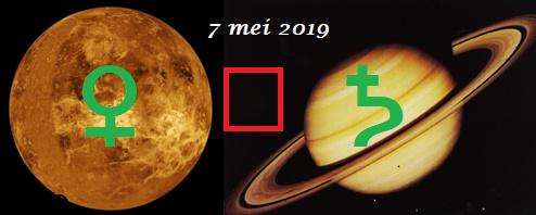 Venus vierkant Saturnus 7 mei