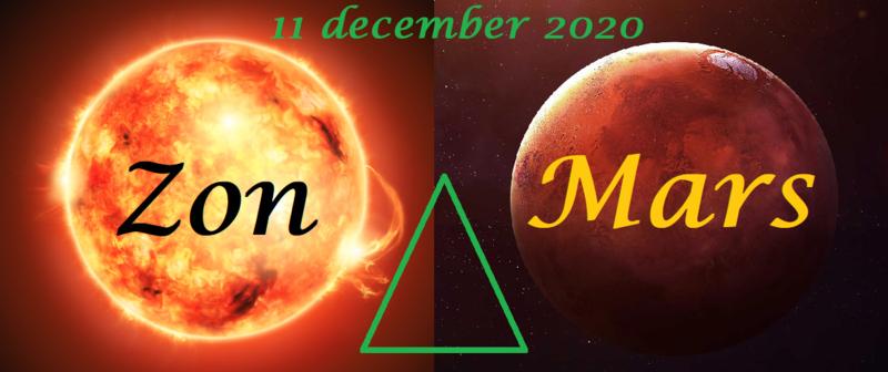 Zon driehoek Mars - 11 december 2020