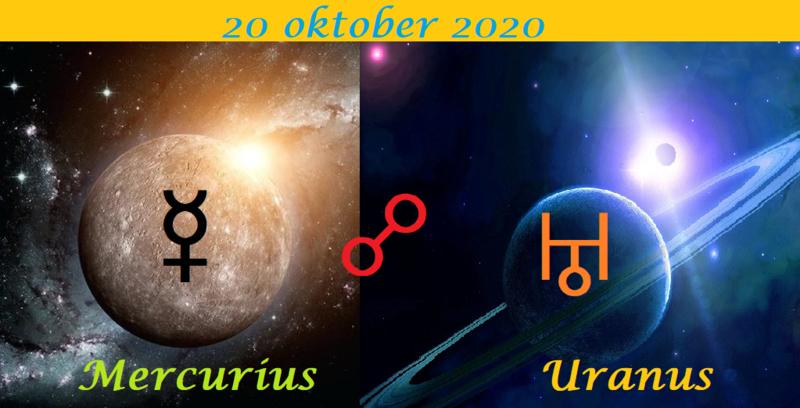 Mercurius oppositie Uranus - 20 oktober 2020
