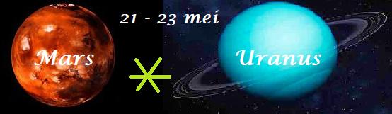 Mars sextiel Uranus -   21 t/m 23 mei