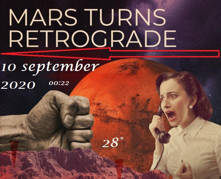 Mars retrograde - 10 september 2020