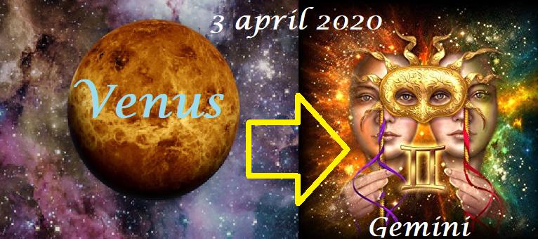 Venus in Tweelingen - 3 april 2020