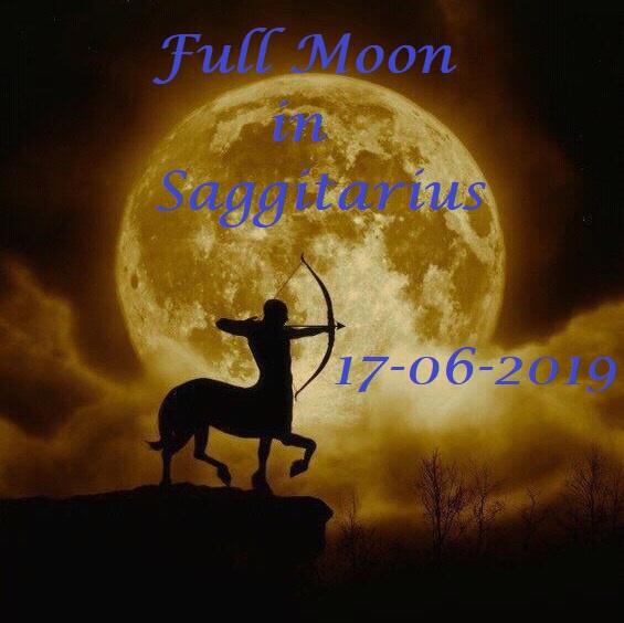 Volle Maan in Boogschutter  - 17 juni 2019